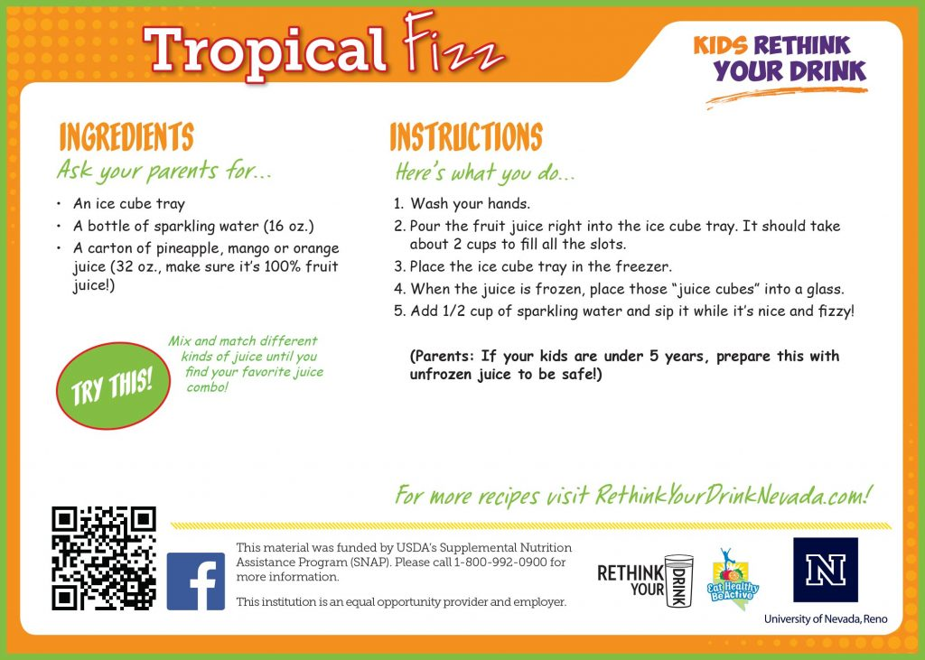 Tropical Fizz Recipe Card