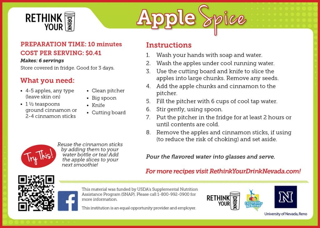apple spice recipe card