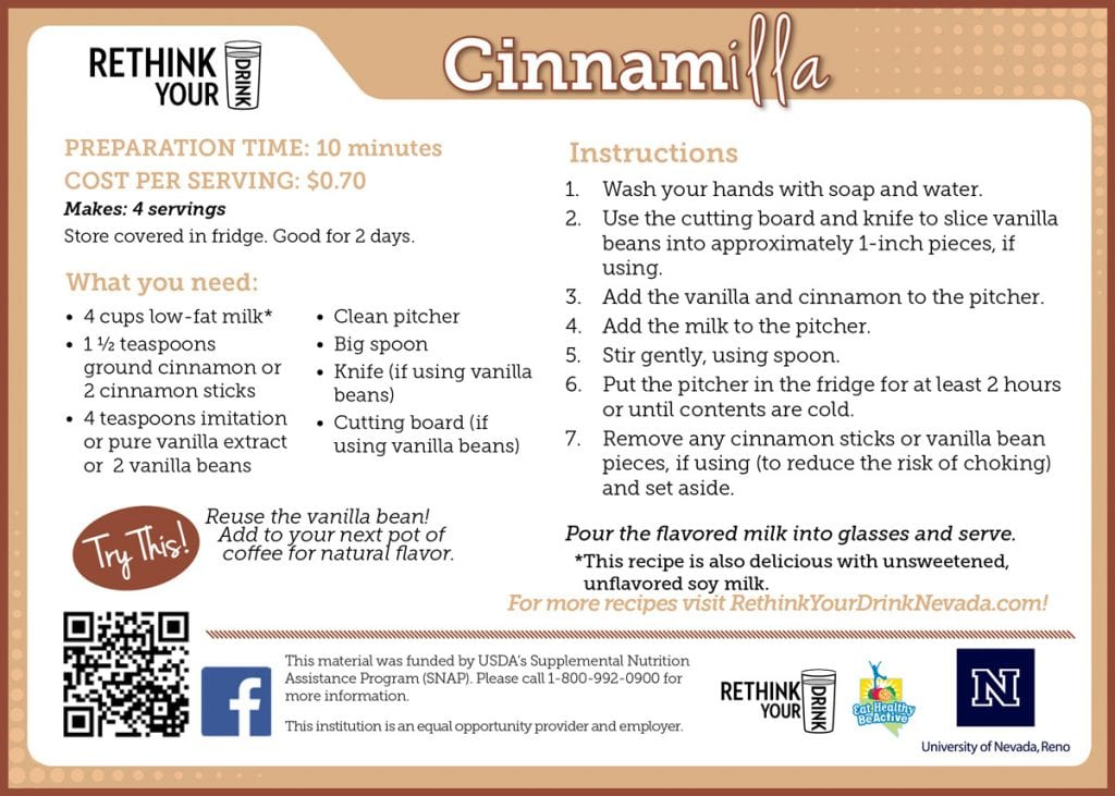 cinnamilla recipe card
