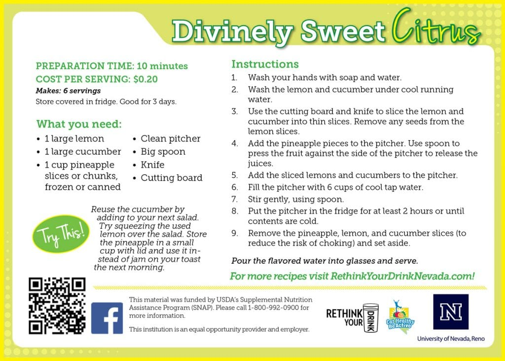 divinely sweet recipe card