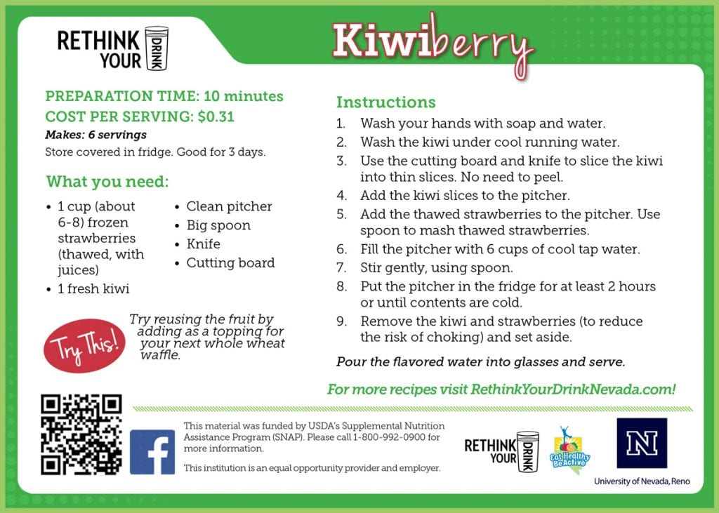 kiwiberry recipe card