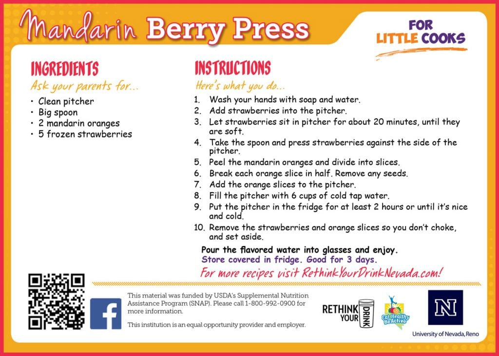 mandarin berry delight recipe card