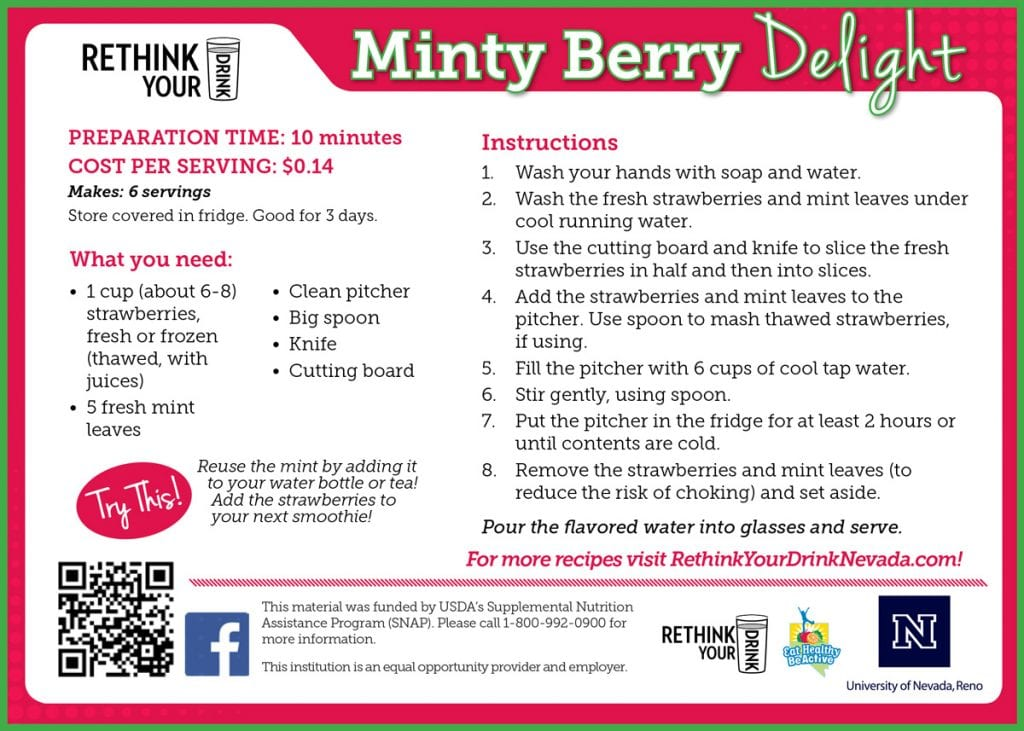 minty berry delight recipe card