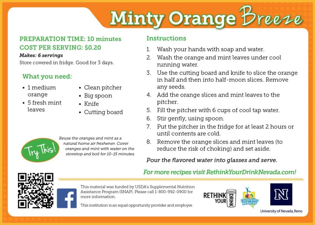 minty orange breeze recipe card