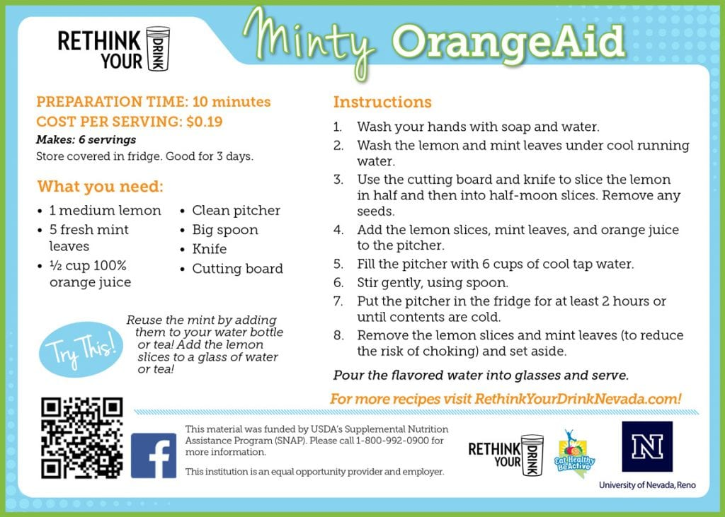 minty orangeaid recipe card