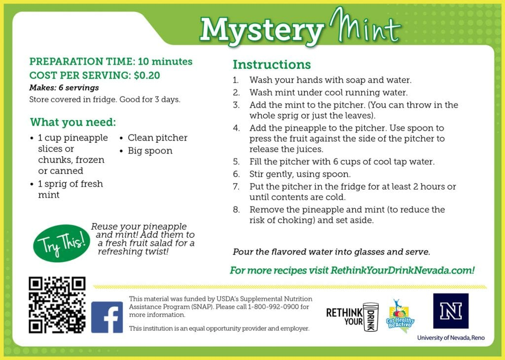 mystery mint recipe card