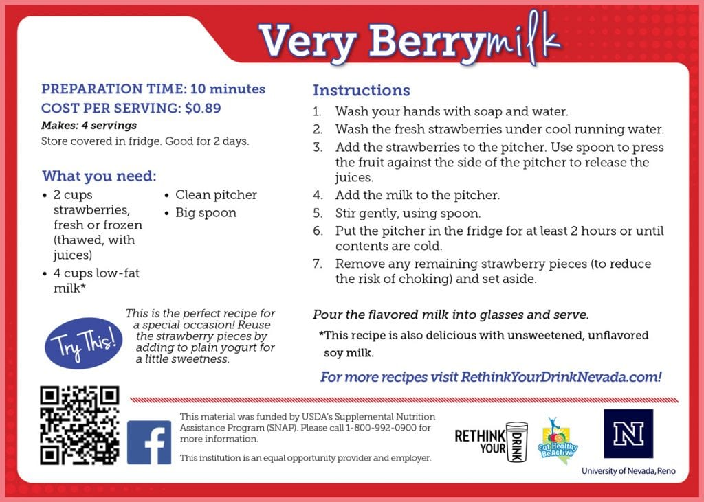 very berrymilk recipe card