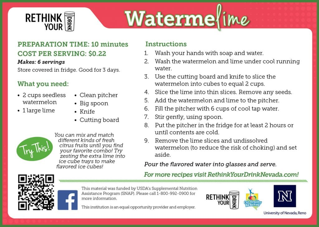 watermelime recipe card